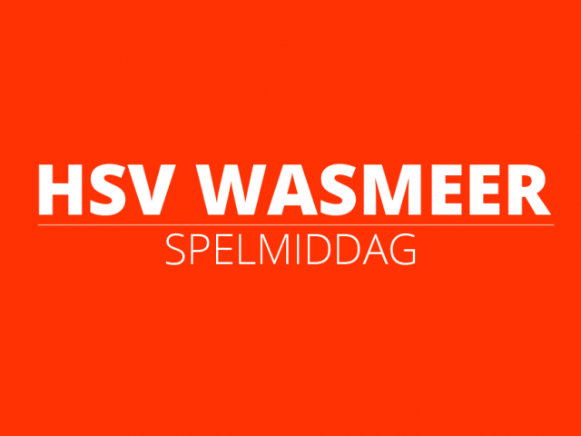 Poster spelmiddag | HSV Wasmeer